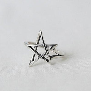 Five Pointed Star Silver Ring Wholesale 3