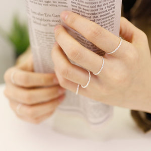 Thin Sterling Silver 1.3mm Stacking Ring Wholesale 3