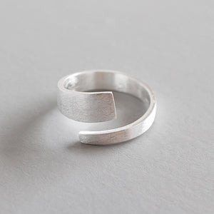 Sterling Silver Brushed Face Open Ring Wholesale