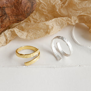 Sterling Silver Simple Style Open Ring Wholesale 2