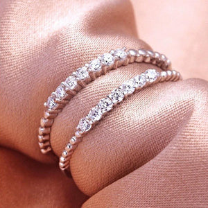 Minimalist CZ 925 Silver Stacking Ring Wholesale 2