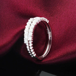 Minimalist CZ 925 Silver Stacking Ring Wholesale 3