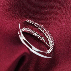 Minimalist CZ 925 Silver Stacking Ring Wholesale 4