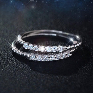 Minimalist CZ 925 Silver Stacking Ring Wholesale