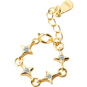 Sparking Star Chain Ring Wholesale Adjustable 5