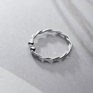 Sterling Silver Twisted Open Ring Wholesale