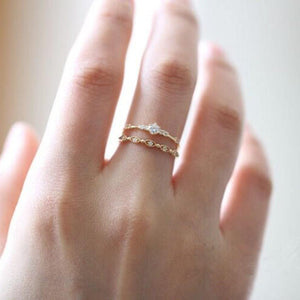 Sterling Silver Dainty CZ Stacking Ring Wholesale 2