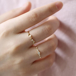 Sterling Silver Dainty CZ Stacking Ring Wholesale 3