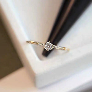Sterling Silver Dainty CZ Stacking Ring Wholesale 6