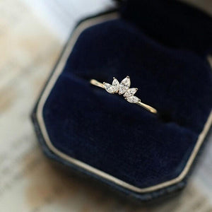 Wholesale Dainty Sterling Silver Marquise CZ Rings for Women 3
