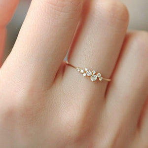 Dainty Sterling Silver Cubic Zirconia Cluster Ring Wholesale