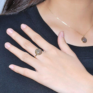 Sterling Silver Natural Labradorite Statement Ring Wholesale 3
