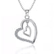 925 Sterling Silver CZ Heart Necklace