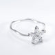 Sterling Silver Pave CZ Beautiful Flower Ring