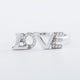 925 Sterling Silver CZ I Love You Ring