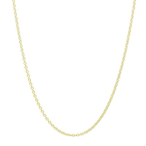 18 k Gold Plated Sterling Silver Cable Chain Wholesale Lots