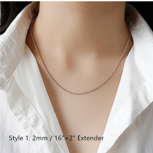 Sterling Silver Box Chain Snake Chain Wholesale 2