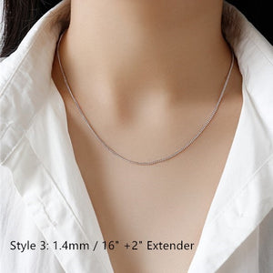 Sterling Silver Box Chain Snake Chain Wholesale 5