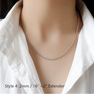 Sterling Silver Box Chain Snake Chain Wholesale 6