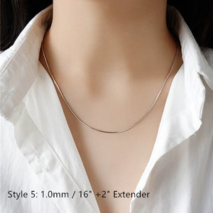 Sterling Silver Box Chain Snake Chain Wholesale