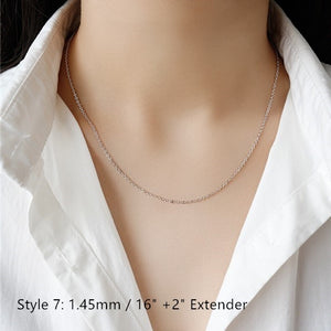 Sterling Silver Box Chain Snake Chain Wholesale 11