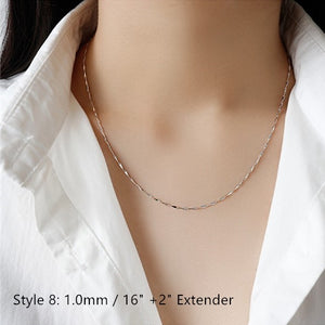 Sterling Silver Box Chain Snake Chain Wholesale 12
