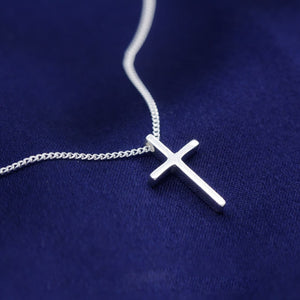 Brilliant Sterling Silver Cross Necklace Wholesale  2