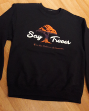 """Say Treees"" Tangie Color Fade Logo Crew Neck"