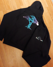 """Say Treees"" Purple Urkle Color Fade Logo Sweat Suit"
