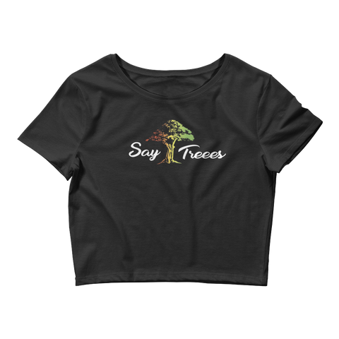 "Say Treees ""Rasta"" Crop Tee"