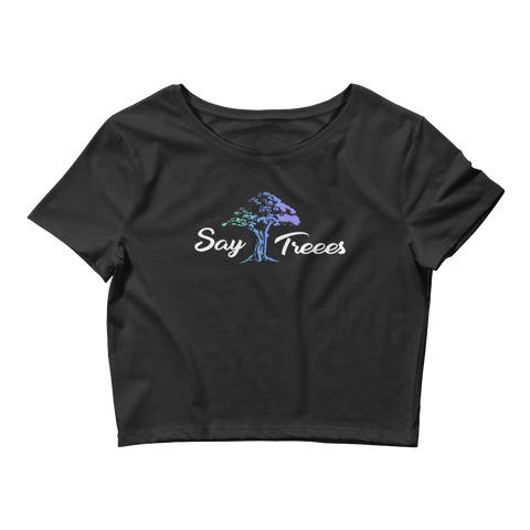"Say Treees ""Enchanted"" Crop Tee"