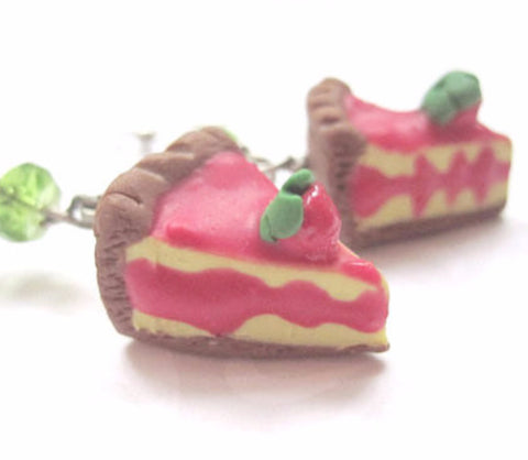 Royal Tart Slice Earrings, Miniature Food Jewelry, Polymer Clay Food Jewelry, Adventurer Time