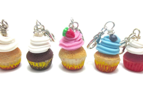 Cupcake Ring Collation Charm (Pick One), Miniature Food Jewelry, Polymer Clay Food Jewelry