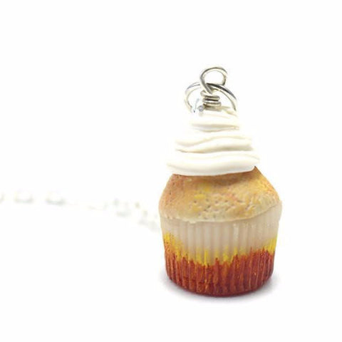 Vanilla Cupcake necklace, Miniature Food Jewelry, Polymer Clay Food Jewelry