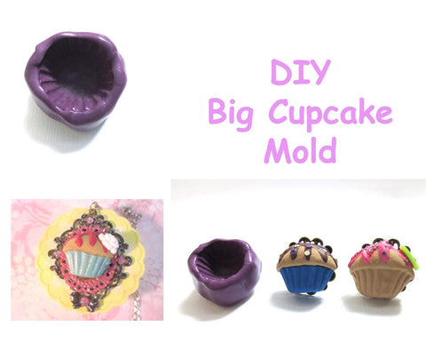 Big Cupcake Mold, Miniature Food Craft Supply