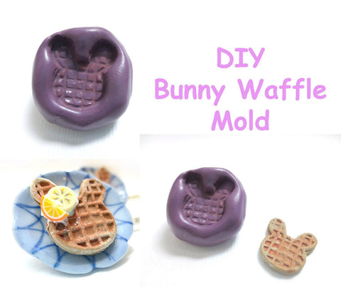 Bunny Waffle Mold, Miniature Food Craft Supply