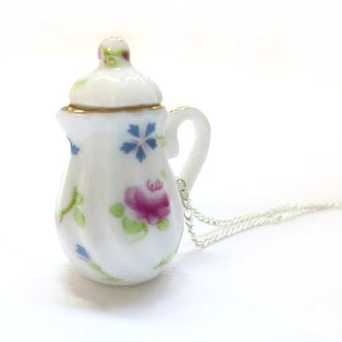 Teapot Necklace Collection, Miniature Food Jewelry, Polymer Clay Food Jewelry