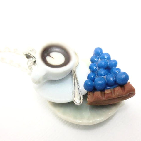 Blueberry Cheesecake and Latte Necklace