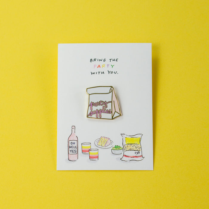 Party Supplies Pin
