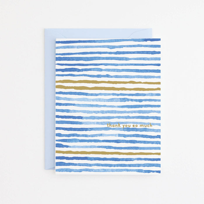 Blue Waves Thank You Card