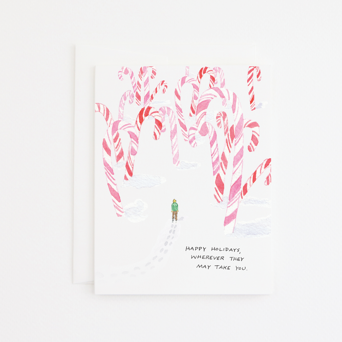 Candy Cane Forest Card