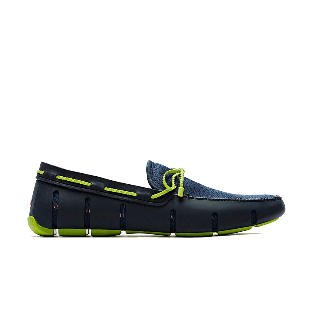BRAID LACE LOAFER-NAVY/GREEN