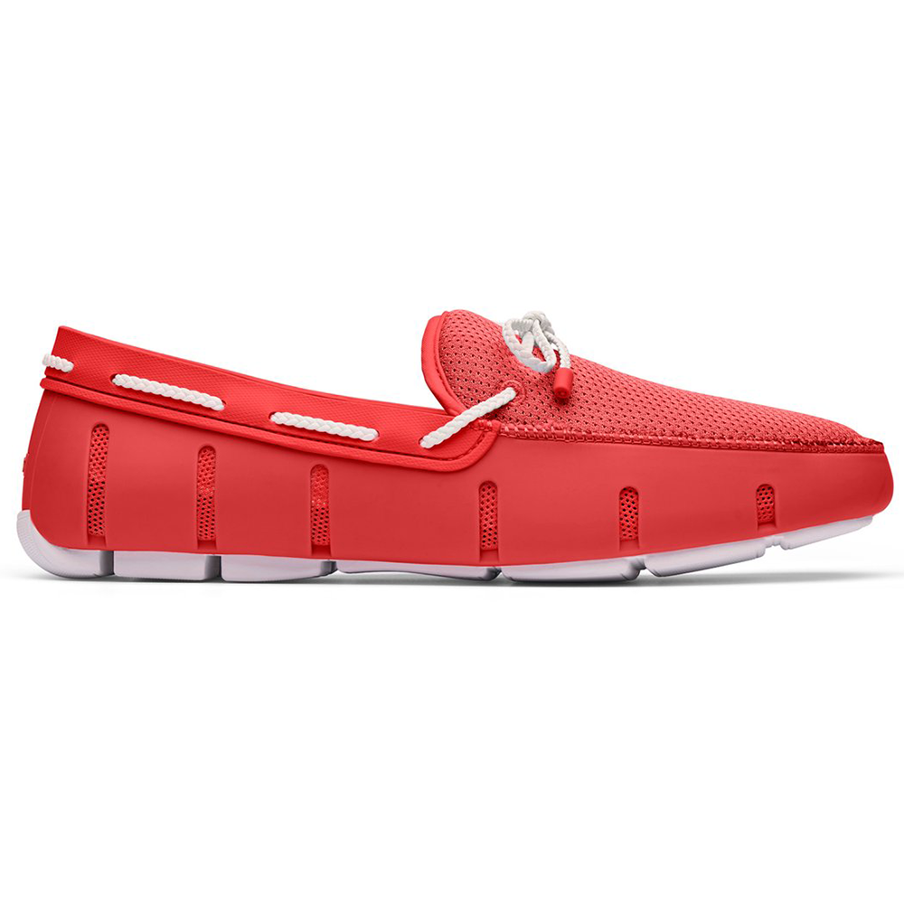 BRAID LACE LOAFER-RED AERT/WHITE
