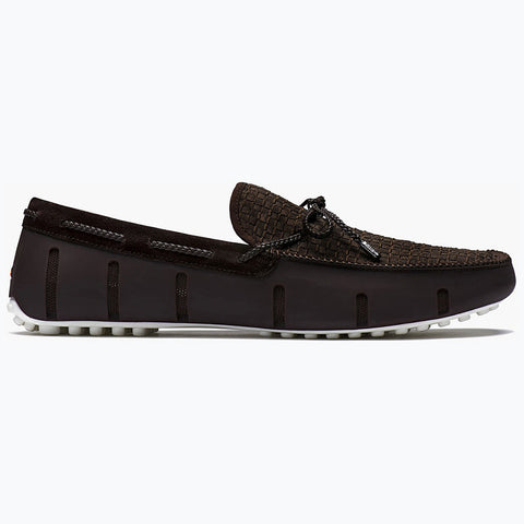 LACE LOAFER WOVEN - BROWN/WHITE