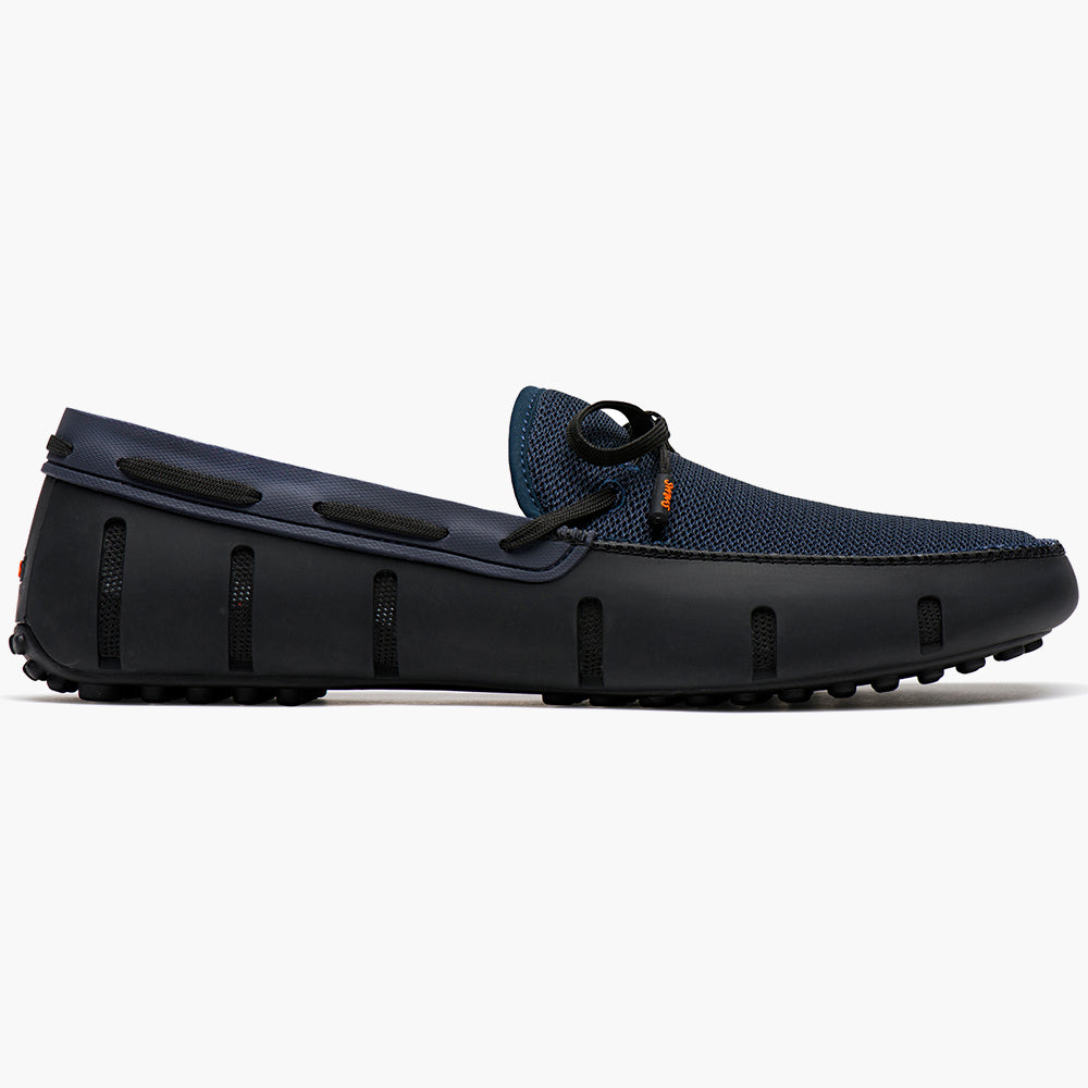 LACE LOAFER DRIVER - BLACK/NAVY