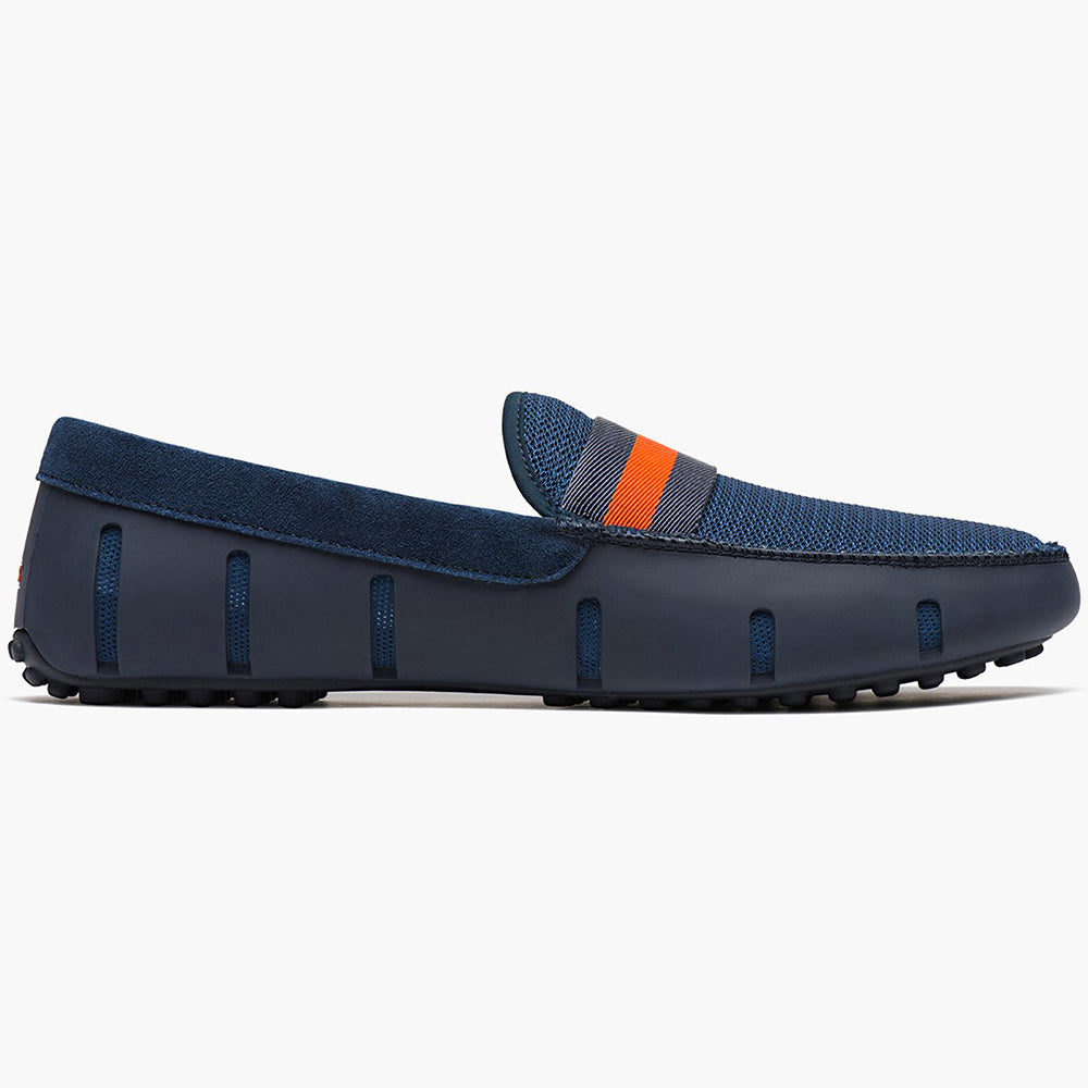 WEBBING LOAFER DRIVER - NAVY/ORANGE
