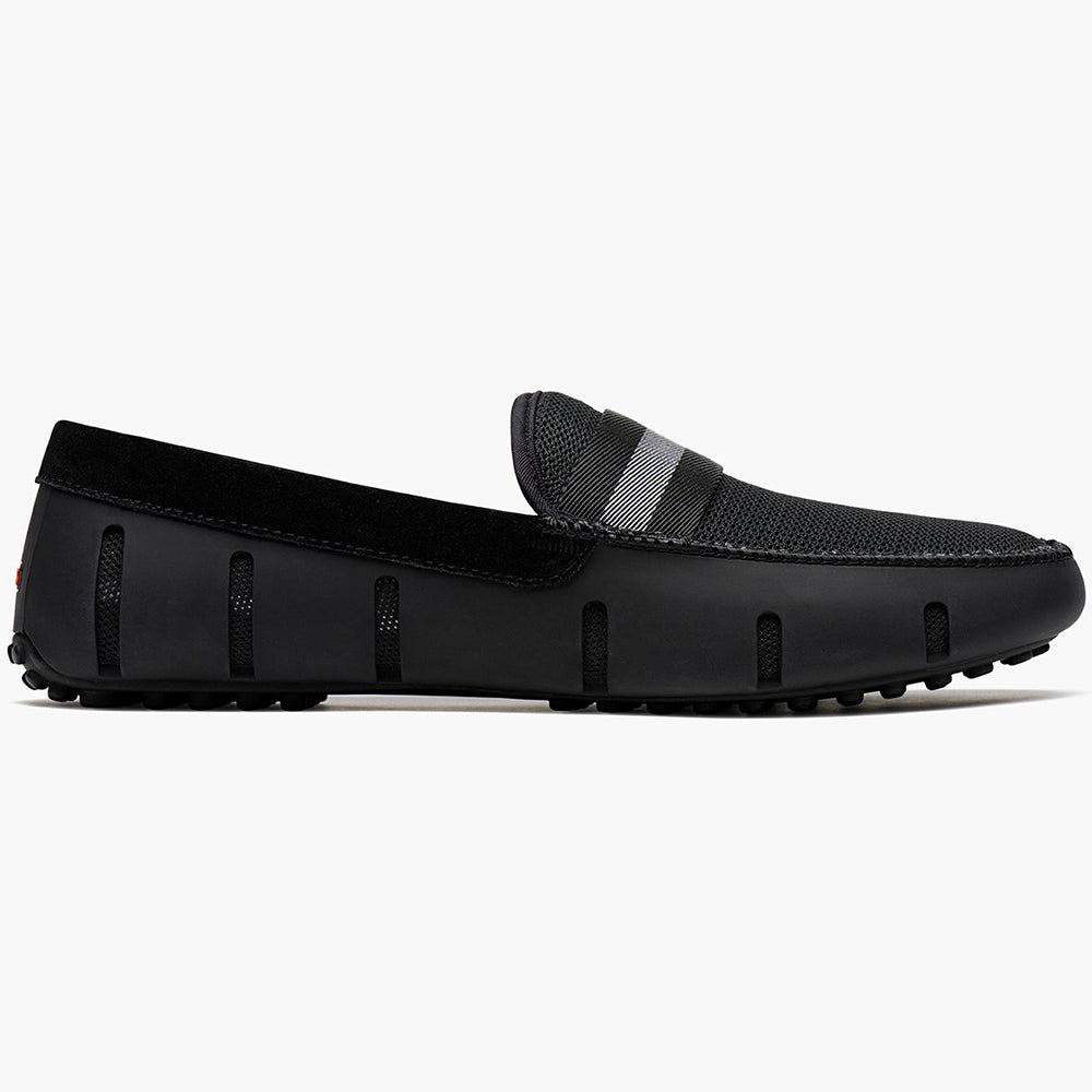 WEBBING LOAFER DRIVER - BLACK/GRAY
