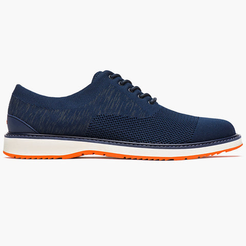 BARRY OXFORD KNIT - NAVY/ORANGE