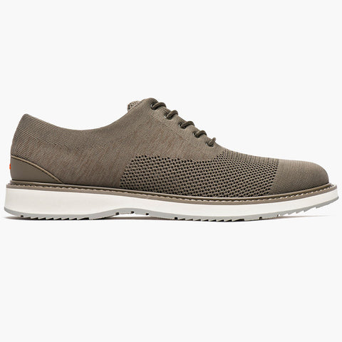 BARRY OXFORD KNIT - KHAKI MELANGE/GRAY