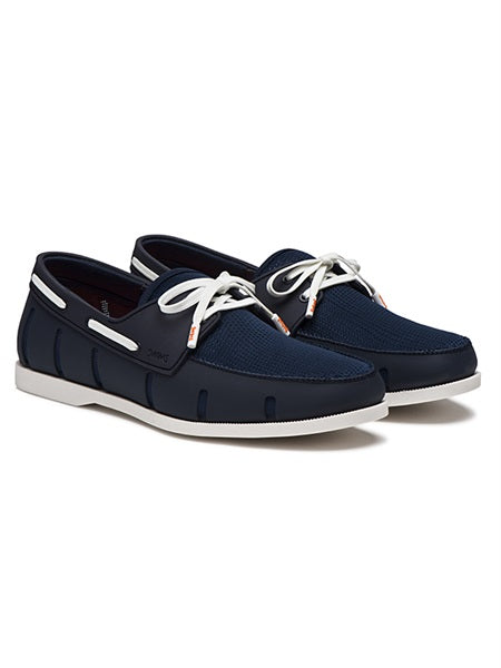 BRAIDED LACE LUX LOAFER DRIVER - NAVY/RED